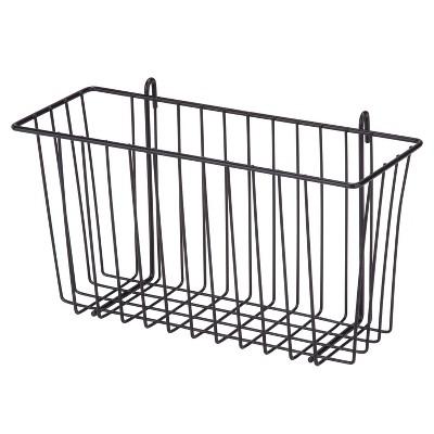 Honey-Can-Do Black Wire Basket Black