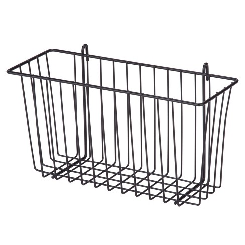 Honey-Can-Do Black Wire Basket Black - image 1 of 3