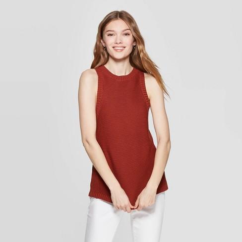 cea609114d3b Women's Sleeveless Crewneck Halter Sweater Tank Top - A New Day™ : Target