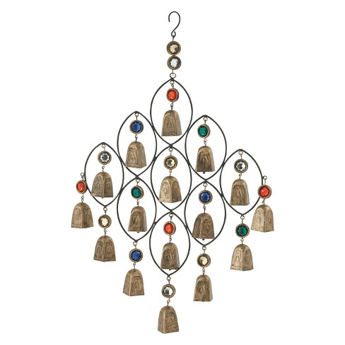 """27""""H Iron Wind Chime - Brass - Olivia & May - image 1 of 2"""