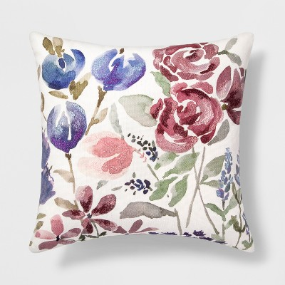 Floral Square Throw Pillow - Threshold™