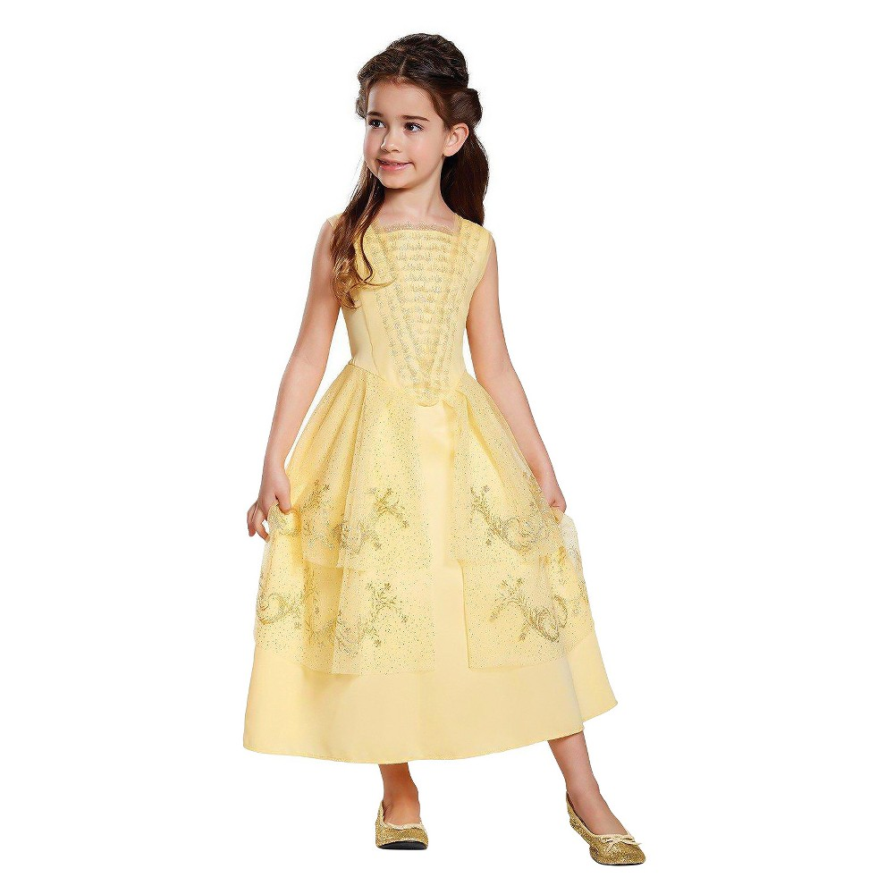Toddler Girls' Disney Princess Belle Ball Gown Classic Costume Kit 3T-4T, Multi-Colored