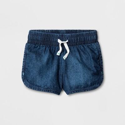 Toddler Girls' Denim Shorts - Cat & Jack™ Dark Wash 12M