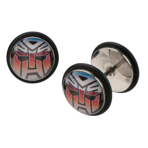 Hasbro® Transformers Graphic Stainless Steel Screw Back Earrings - image 1 of 1