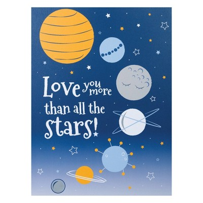 Trend Lab Unframed Wall Canvas Planet Love