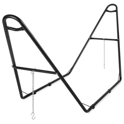 Best Choice Products Adjustable Universal Steel Hammock Stand for Hammocks 9-14ft Long w/ S Hooks