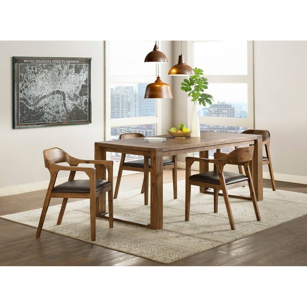 5pc Rasmus Dining Set With Arm Chairs Chestnut (Brown) - Boraam