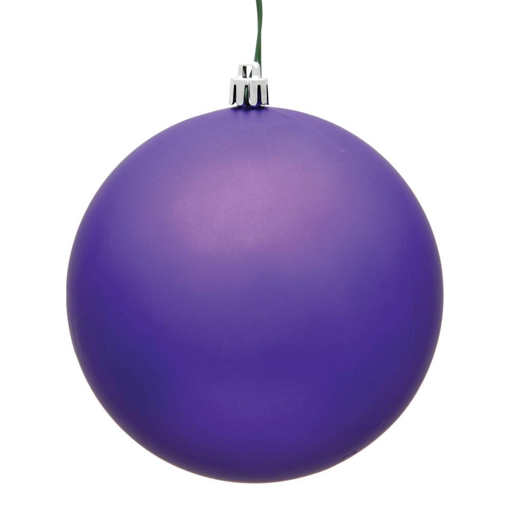 Vickerman 2.4/24ct Matte Ball Ornament UV Coated Purple