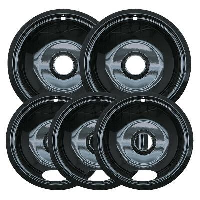 Range Kleen 13741675 5pc Porcelian Drip Pans