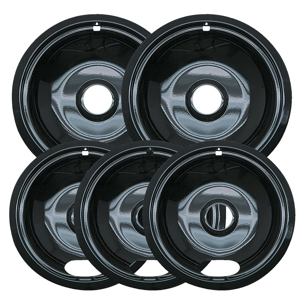 Range Kleen 5pc Porcelian Drip Pans 13741675