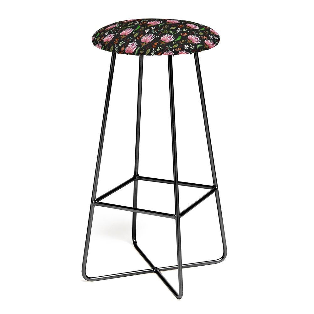 Best Holli Zollinger Protea Boho Bar Stool Floral Black Deny Designs Floral Black