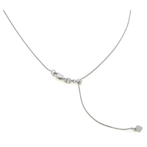 ee2c1cd89f013 Adjustable Box Chain In Sterling Silver - 16