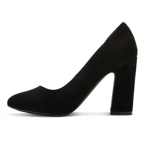 a3336b4d9bd1 Women s by Farylrobin Wide Calf Stella Block Heel Almond Toe Pumps - Black  11W