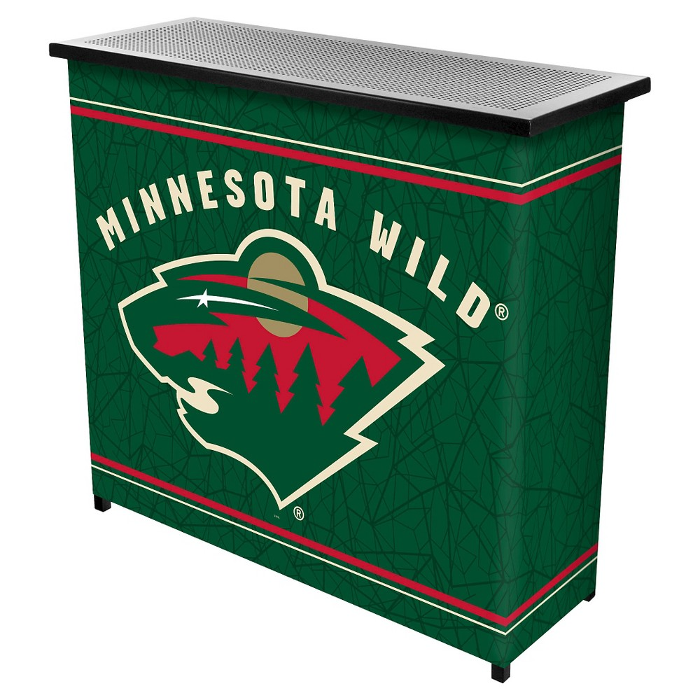 Minnesota Wild 2 Shelf Portable Bar with Case