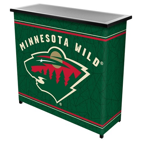 Minnesota Wild 2 Shelf Portable Bar with Case - image 1 of 1