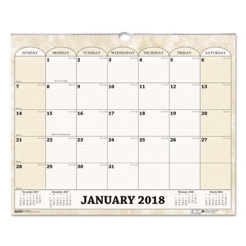 "2018 Recycled Monthly Horizontal Wall Calendar 14 7/8"" x 12 - House of Doolittle - image 1 of 1"