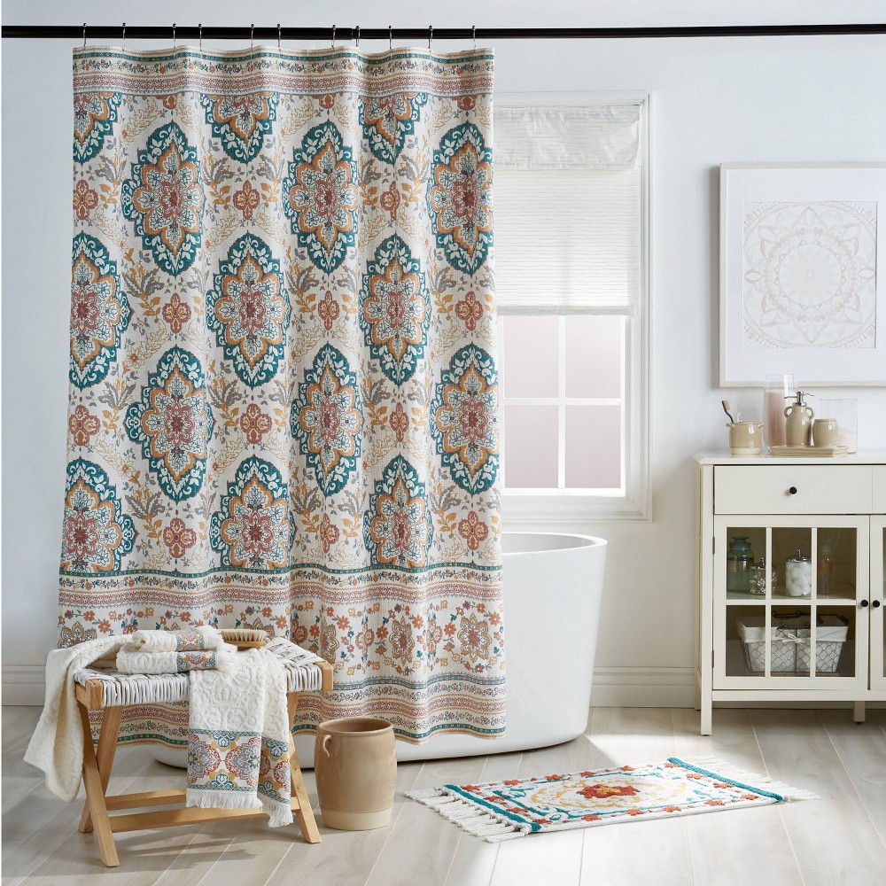 "Image of ""72""""x72"""" Kilim Shower Curtain - Destinations"""
