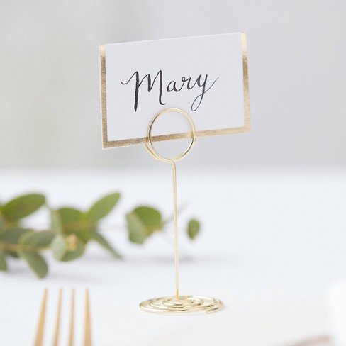 Wire Circle Place Card Holder Gold Target