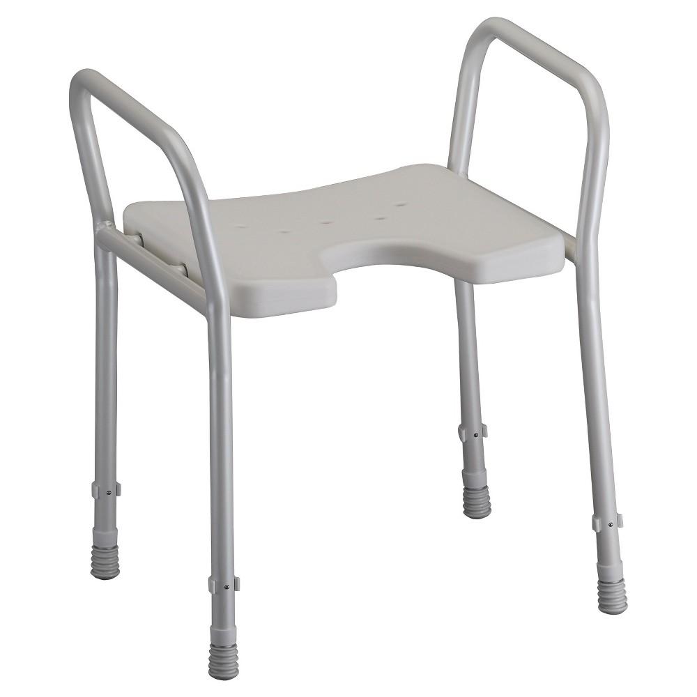 Nova Bath Chair with Arms - White