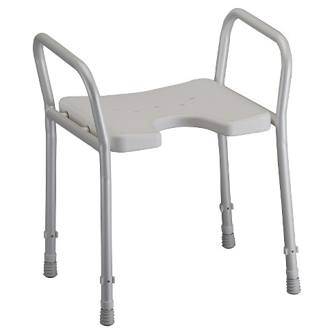 Nova Bath Chair with Arms - White - image 1 of 3