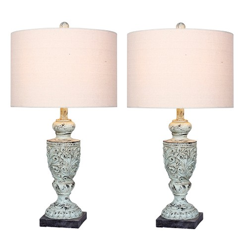Decorative Resin Table Lamps Antique Blue  - Fangio Lighting - image 1 of 2