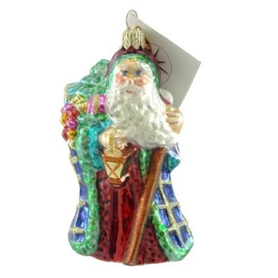 Christopher Radko Petite Noel Splendor Ornament Santa Lantern Staff  -  Tree Ornaments