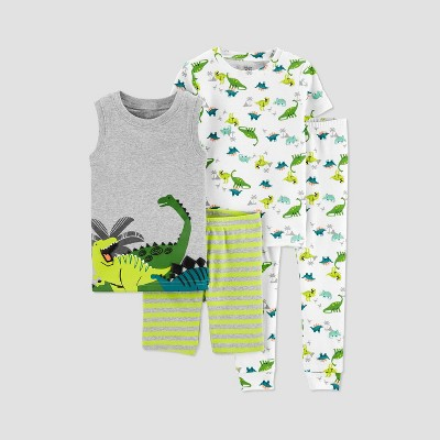 Toddler Boys' 4pc Dino Pajama Set - Just One You® made by carter's Green 3T