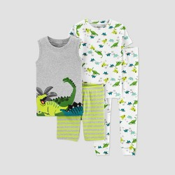 Baby Boys' 4pc Dino Pajama Set - Just One You® made by carter's Green