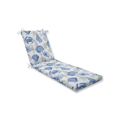 Indoor/Outdoor Sealife Marine Blue Chaise Lounge Cushion - Pillow Perfect