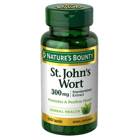 Nature's Bounty St. John's Wort Extract Dietary Supplement Capsules - 100ct - image 1 of 1