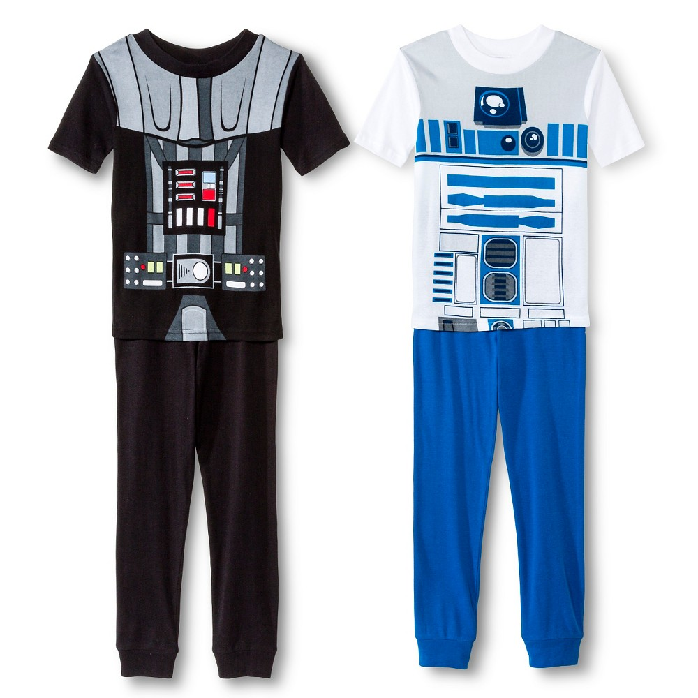 Boys' Star Wars 4-Piece Pajama Set - Multicolored 6, Multi-Colored