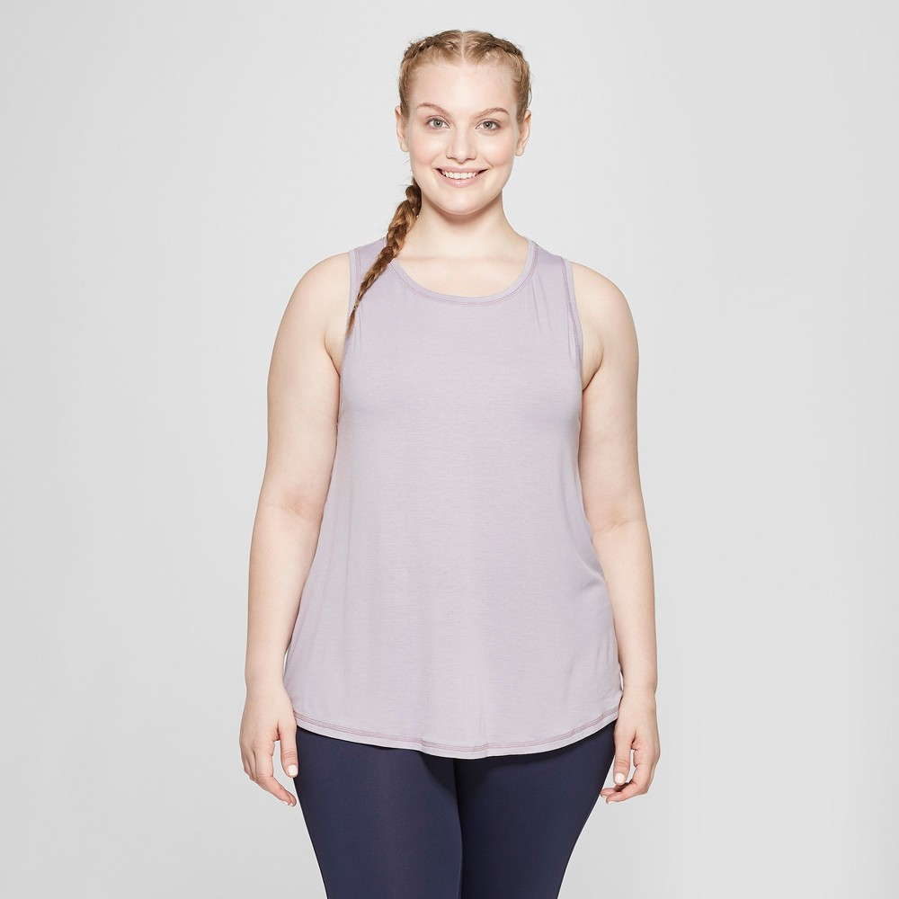 Women's Plus Size Active Tank Top - C9 Champion Smoked Lilac 3X