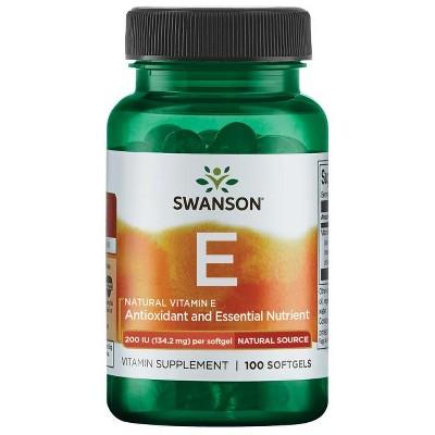 Swanson Natural Vitamin E 200 Iu 100 Softgels