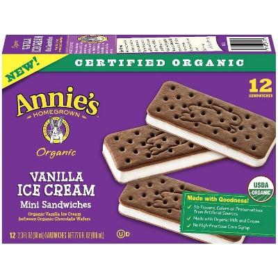 Annie's Vanilla Ice Cream Sandwiches - 12ct