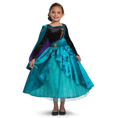 Kids' Deluxe Disney Frozen 2 Queen Anna Halloween Costume Dress