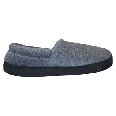 Men's MUK LUKS Fleece Espadrille Slippers - Charcoal S(7-8), Size: Small (7-8), Grey
