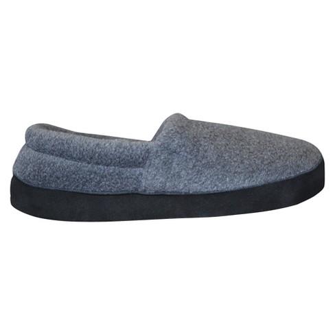 b6d6c5667bc4 Men s MUK LUKS® Fleece Espadrille Slippers - Charcoal S(7-8)   Target