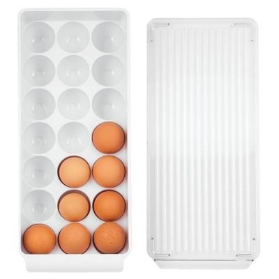 iDESIGN Fridge Binz Egg Holder Large Clear