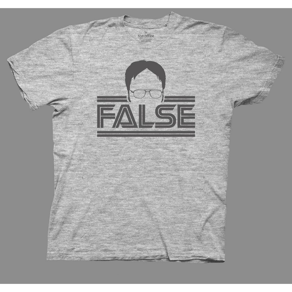 Image of Men's The Office False Short Sleeve Graphic T-Shirt - Gray 2XL, Men's