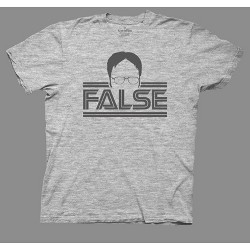 Men's The Office False Short Sleeve Graphic T-Shirt - Gray