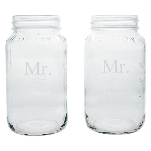 2ct Mr. & Mr. Wedding Mason Jars - image 1 of 1