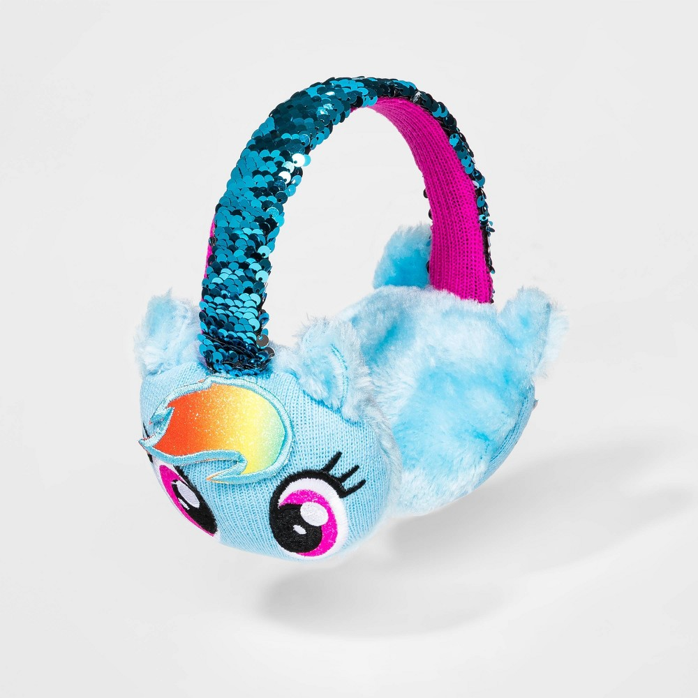 Image of Girls' My Little Pony Rainbow Dash Earmuffs - Blue One Size, Girl's