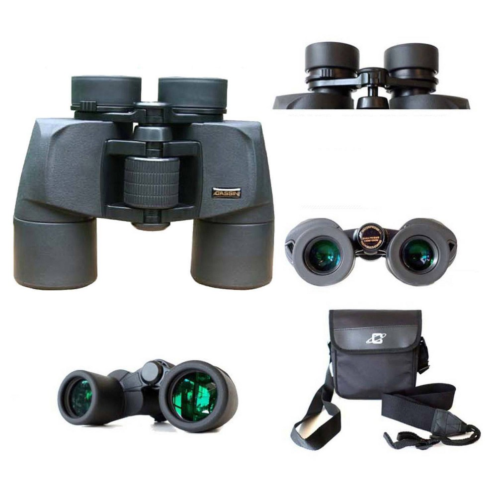 Image of Cassini 8 x 40mm Water and Fog Proof Porro Prism Binocular - Black