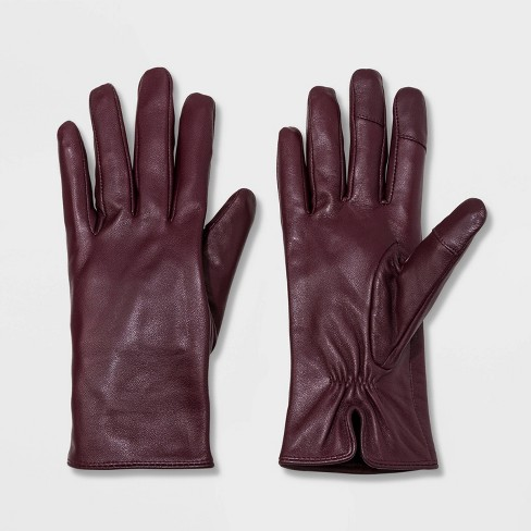 Women's Leather Tech Touch Gloves - A New Day™ - image 1 of 1