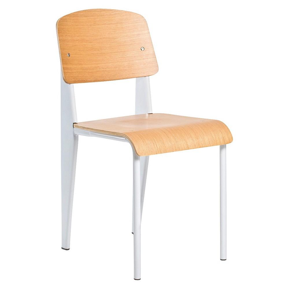 Sally Wood Top Chair Metal/White (Set of 2) - Aeon, Black