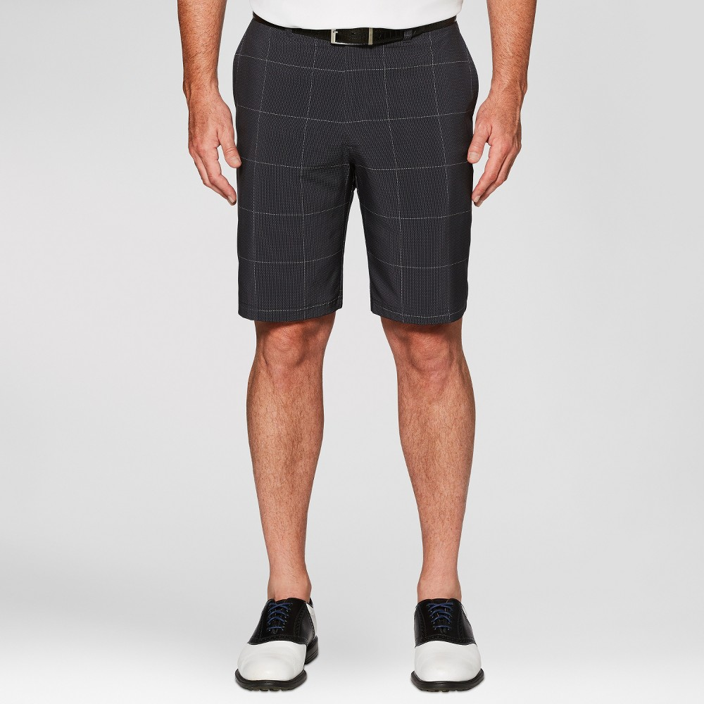 Jack Nicklaus Men's Plaid Golf Shorts - Caviar Black 36
