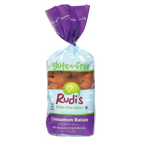 Ruid's Gluten Free, Soy Free, & Dairy Free Cinnamon Raisin Frozen Bread 18oz - image 1 of 3