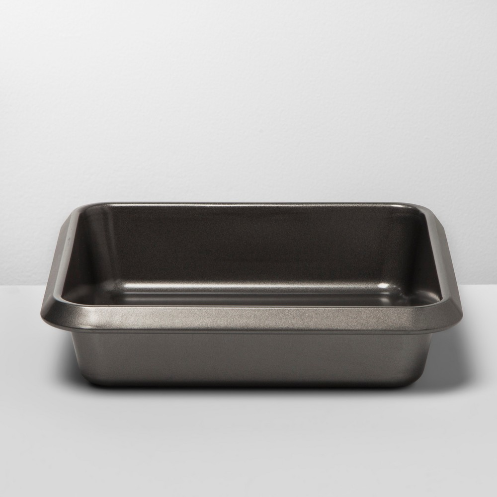 """Image of """"8"""""""" Non-Stick Square Cake Pan Carbon Steel - Made By Design , Gray"""""""