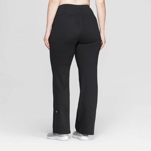 181ec4f84a53 Women s Plus Size Everyday Mid-Rise Flare Pants 31.5