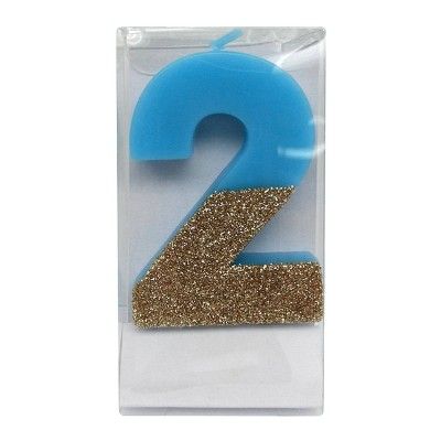 Number 2 Glitter Candle - Spritz™